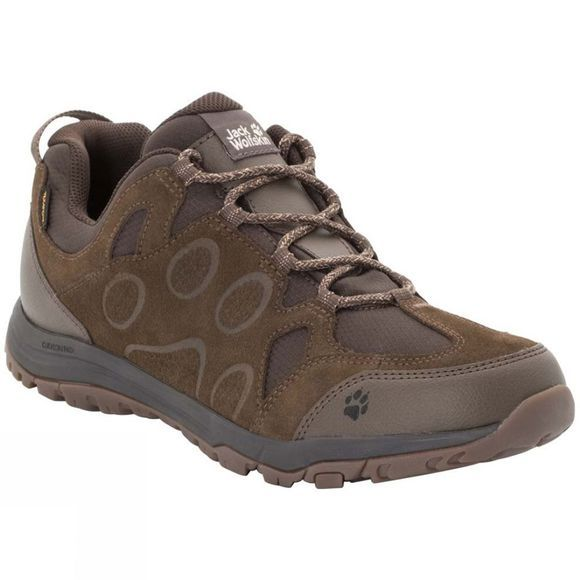 Jack Wolfskin Mens Rocksand Texapore Low Dark Wood