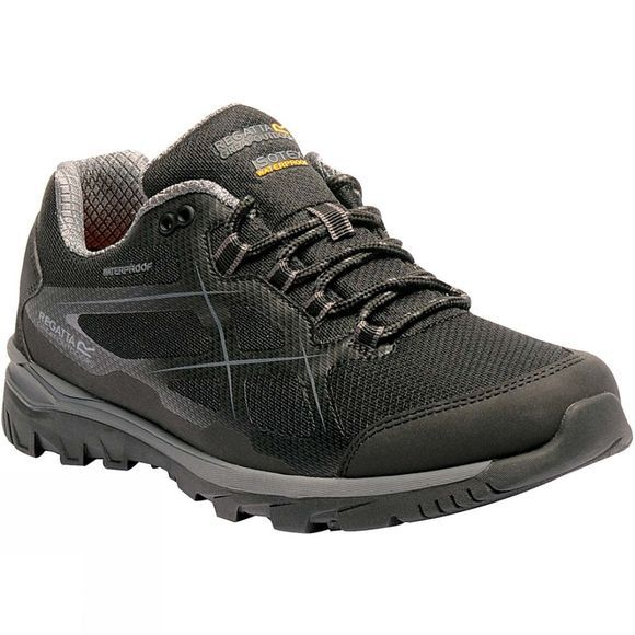 Regatta Mens Kota Low Boot Black/Granite