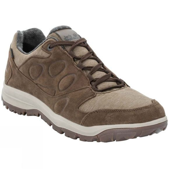 Jack Wolfskin Mens Vancouver Texapore Low Shoe Dark Wood