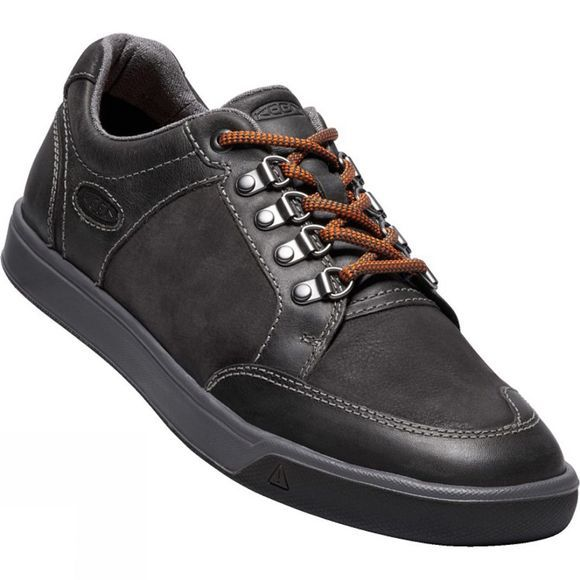 Keen Mens Glenhaven Explorer Leather Shoe Alcatraz/Black