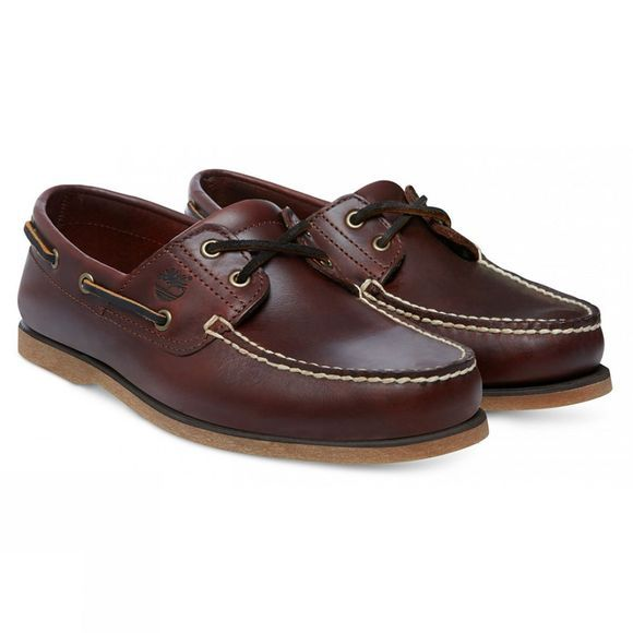 Timberland Mens Classic Boat Shoe Medium Brown Full Grain