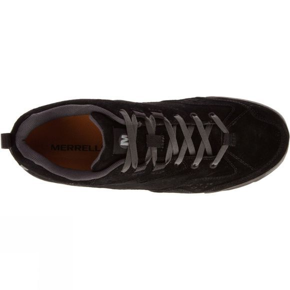 Merrell Mens Burnt Rock Tura Suede Shoe Black