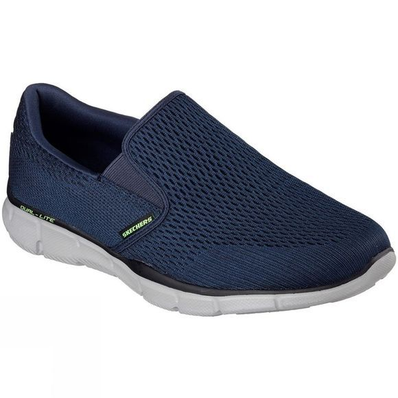 Skechers Mens Equalizer Double Play Slip On Trainer Navy