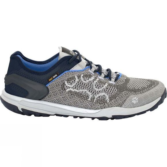 Jack Wolfskin Mens Crosstrail Knit Low Shoe Silver Grey