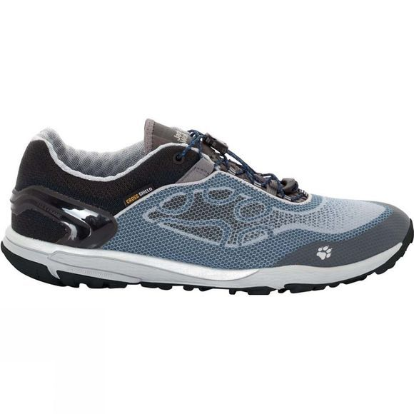 Jack Wolfskin Mens Crosstrail Shield Low Shoe Grey Haze