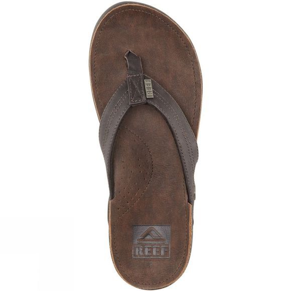 Reef Mens J Bay Leather Sandal Dark Brown