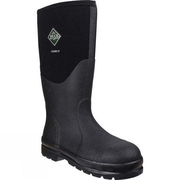 Muck Boot Chore Hi Steel Toe Boot Black