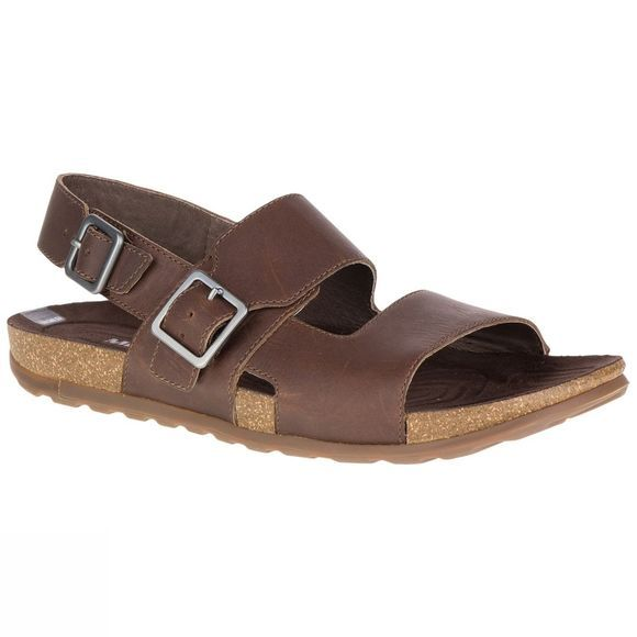 Merrell Mens Downtown Backstrap Buckle Sandals Dark Earth