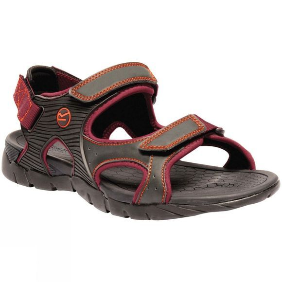 Regatta Mens Rafta Sport Sandal Ash/Delhi Red