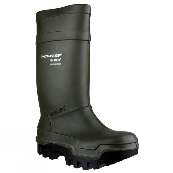 Dunlop Mens Purofort Welly Green