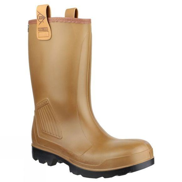 Dunlop Mens Rig AIR Welly Brown