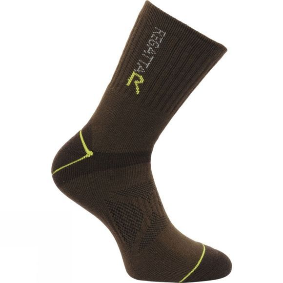 Regatta Mens Blister Protection Sock Clove / Oasis Green
