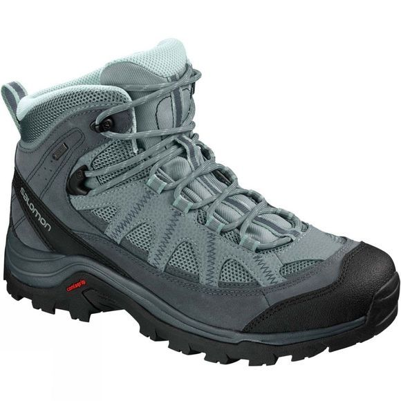 Salomon Womens Authentic LTR GTX Boot Lead/Stormy Weather/Eggshell Blue