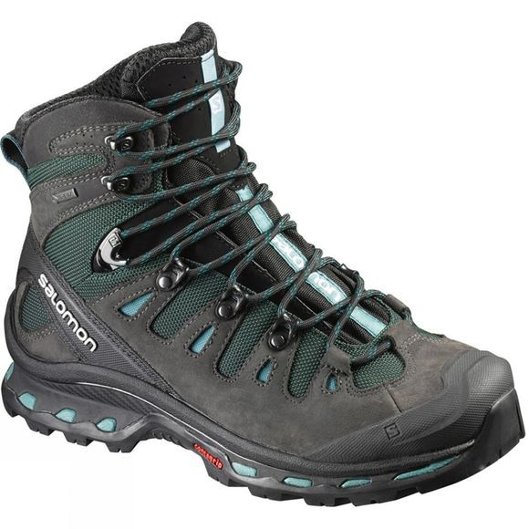 Salomon Womens Quest 4D 2 GTX Boot Asphalt/Green Black/Haze Blue