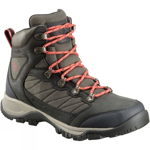 Columbia Womens Cascade Pass Waterproof Boot Alpine Tundra/ Sunset Red