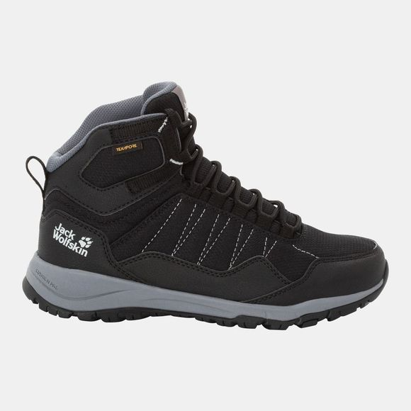 Jack Wolfskin Womens Maze Texapore Mid Black / Grey