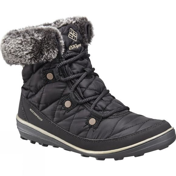Columbia Womens Heavenly Shorty Omni-Heat Boot Black / Kettle