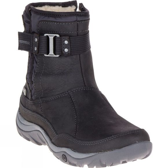 Merrell Women's Murren Strap Waterproof Boot Black