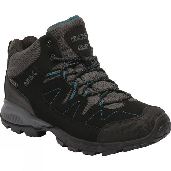 Regatta Womens Holcombe Mid Boot Black / Deep Lake