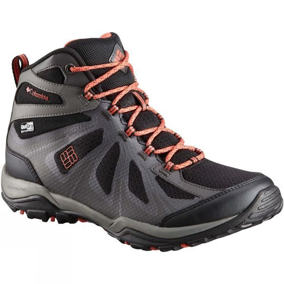 Columbia Womens Peakfreak XCRSN II XCEL Mid Outdry Boot Black/ Red Canyon