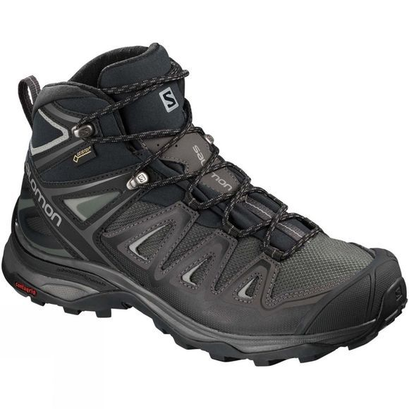 Salomon Womens X-Ultra Mid 3 GTX Boot  Magnet/Black/Monument