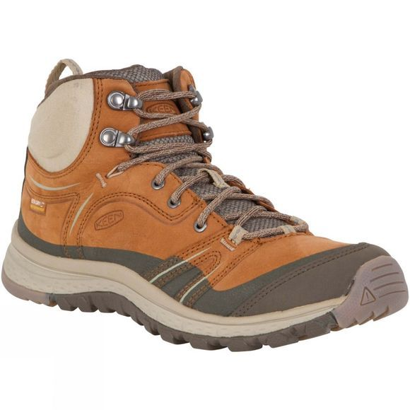 Keen Womens Terradora Leather Mid Waterproof Boot Timber/Cornstalk