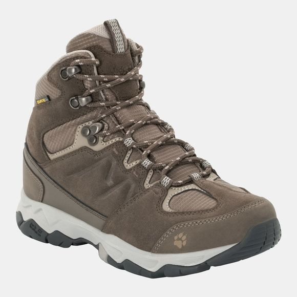 Jack Wolfskin Womens Mtn Attack 6 Texapore Mid Boot Coconut Brown / Grey