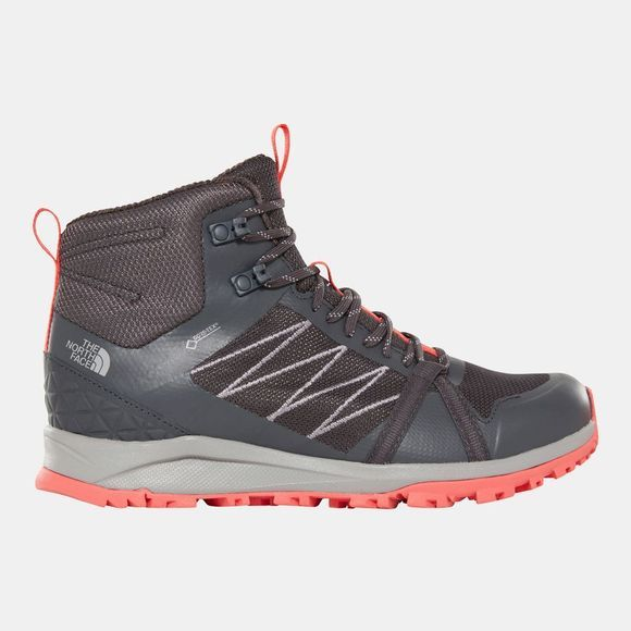 The North Face Womens Litewave Fastpack II Mid GoreTex Boots Ebony Grey/Fiesta Red