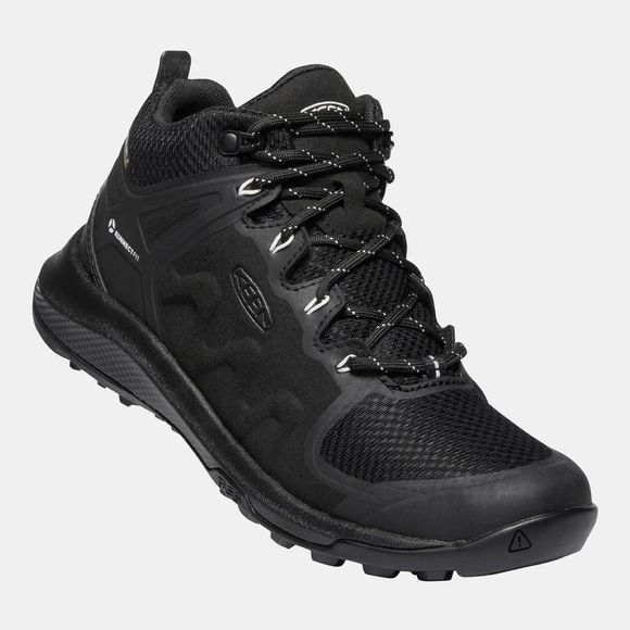 Keen Womens Explore Mid Waterproof Boot Black/Star White