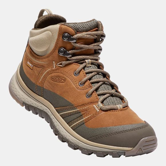 Keen Womens Terradore Leather Mid Waterproof Boots Timber/Cornstalk