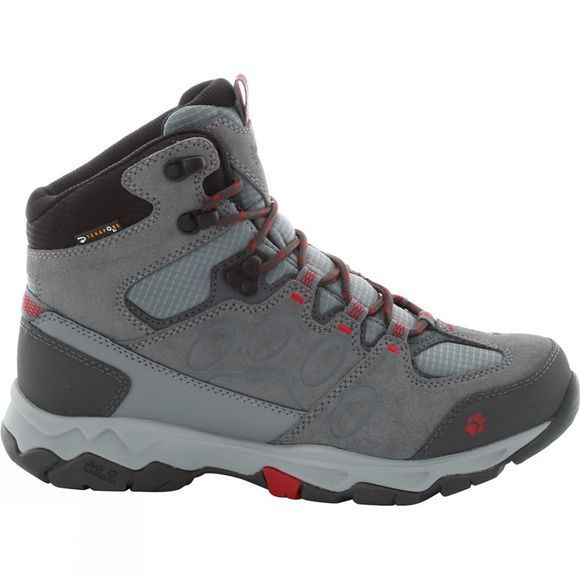 Jack Wolfskin Womens Mountain Attack 5 Texapore Mid Boot Tarmac/Indian Red