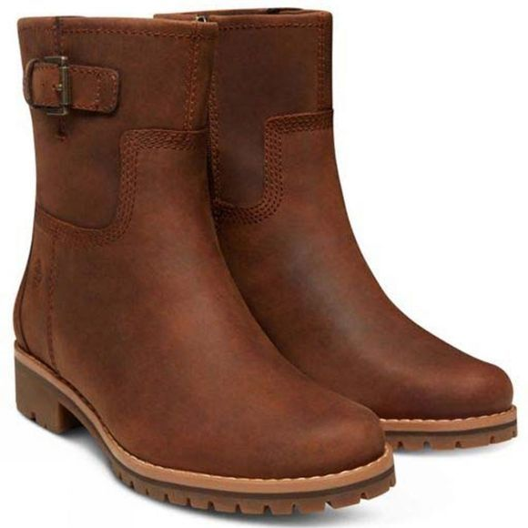 Timberland Womens Main Hill WP Biker Boot Brown