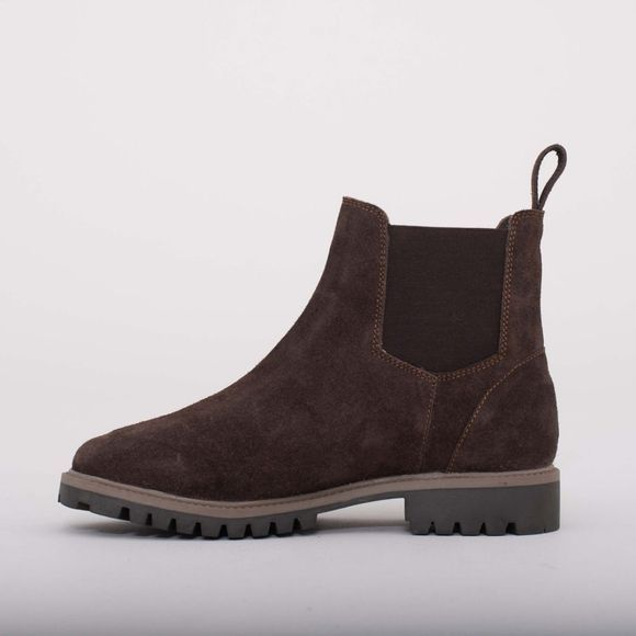 Brakeburn Womens Suede Chelsea Boot Brown