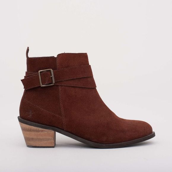 Brakeburn Womens Wrap Boot Burgundy