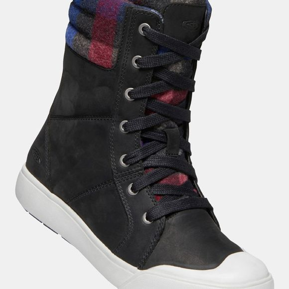 Keen Womens Elena Boot Black/Plaid