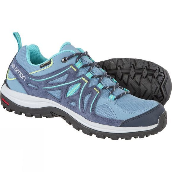 Salomon Womens Ellipse 2 GTX Shoe Rainy Blue/Slateblue/Teal Blue F
