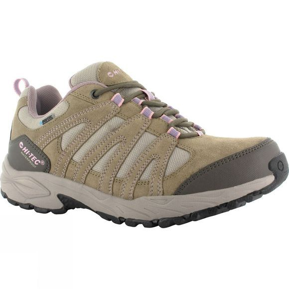 Hi-Tec Womens Alto II Low WP Shoe Light Taupe/Grey/Horizon
