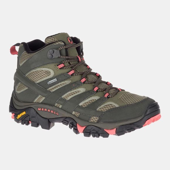 Merrell Womens Moab 2 Mid GTX Boot Beluga/Olive
