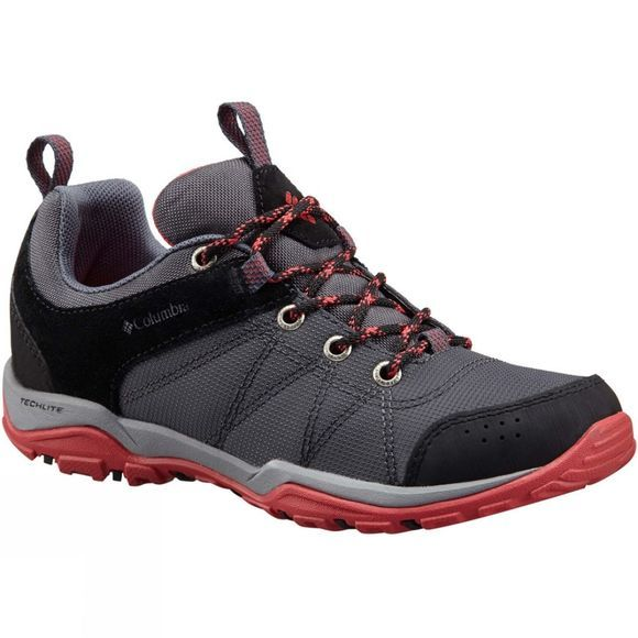 Columbia Womens Fire Venture Textile Shoe Graphite/Sunset Red