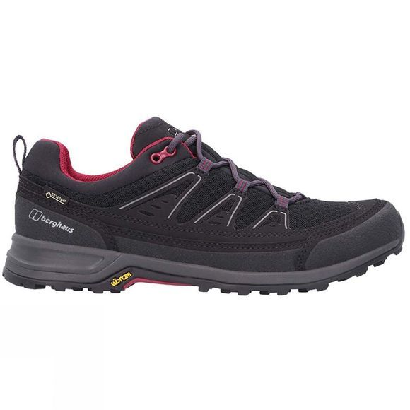 Berghaus Womens Explorer FT Active GTX Tech Shoe Jet Black / Beet Red