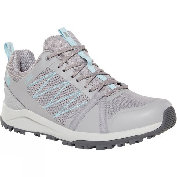 The North Face Womens Litewave Fastpack II Gore-Tex Hiking Shoes Meld Grey/Stratosphere Blue