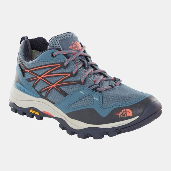 The North Face Womens Hedgehog Fastpack GTX Shoe China Blue/Fiesta Red