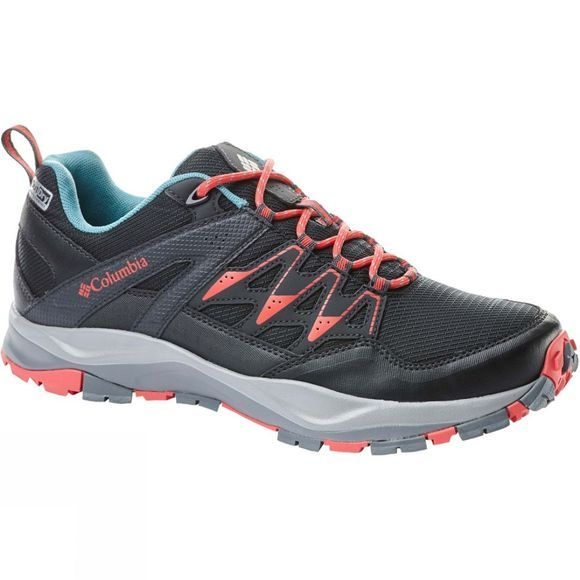Columbia Womens Wayfinder Outdry Shoe Black, Red Coral
