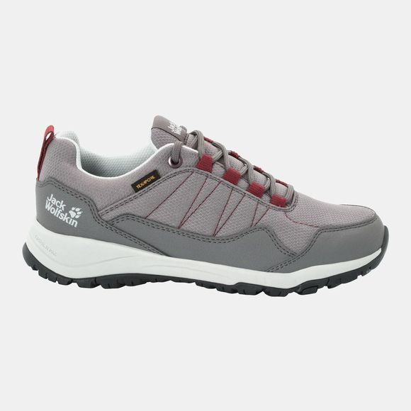Jack Wolfskin Womens Maze Texapore Low Tarmac Grey / Burgundy