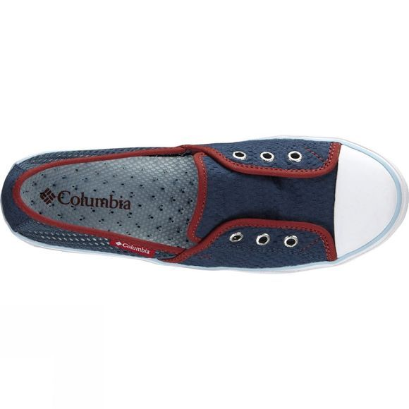 Columbia Womens Vulc N Vent Bombie Slip-On Shoe Whale/ Sky Blue