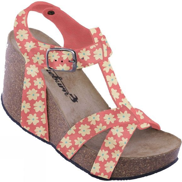 Womens Delicate Daisy Wedge Sandal
