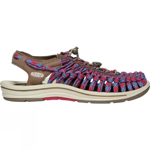 Keen Women's Uneek 8mm Sandal Walnut/Crimson
