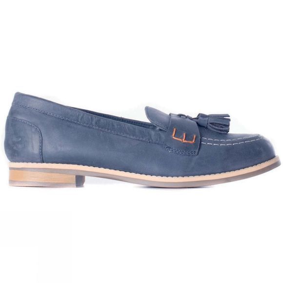 Brakeburn Womens Leather Loafer Navy