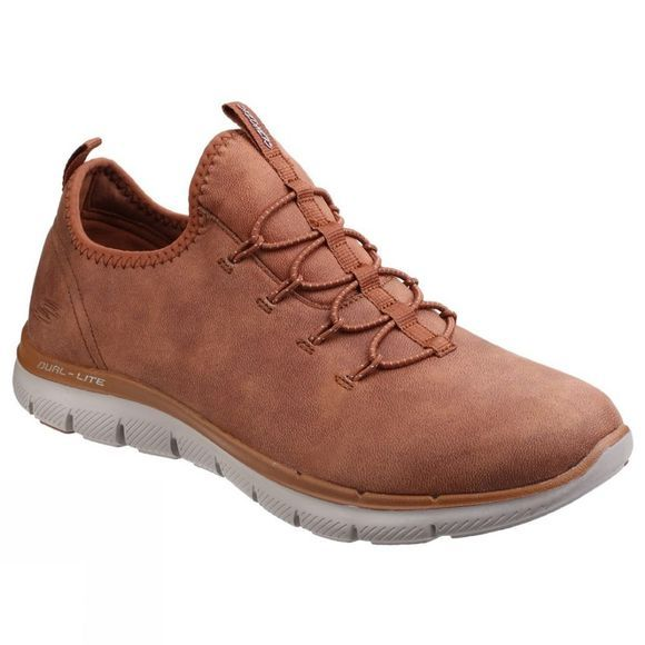 Skechers Womens Flex Appeal 2.0 Top Story Shoe Chestnut