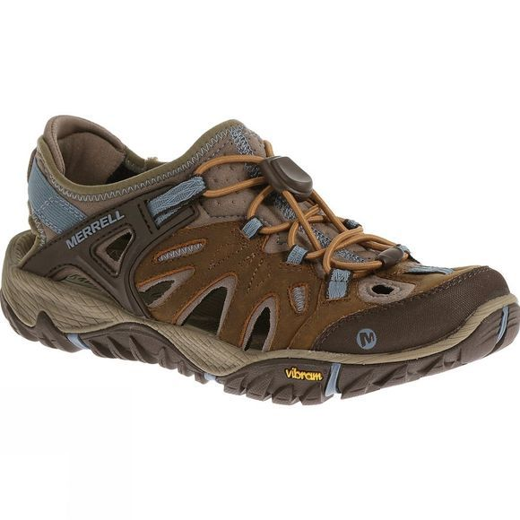 Merrell Womens All Out Blaze Sieve Shoe Brown Sugar/Blue Heaven